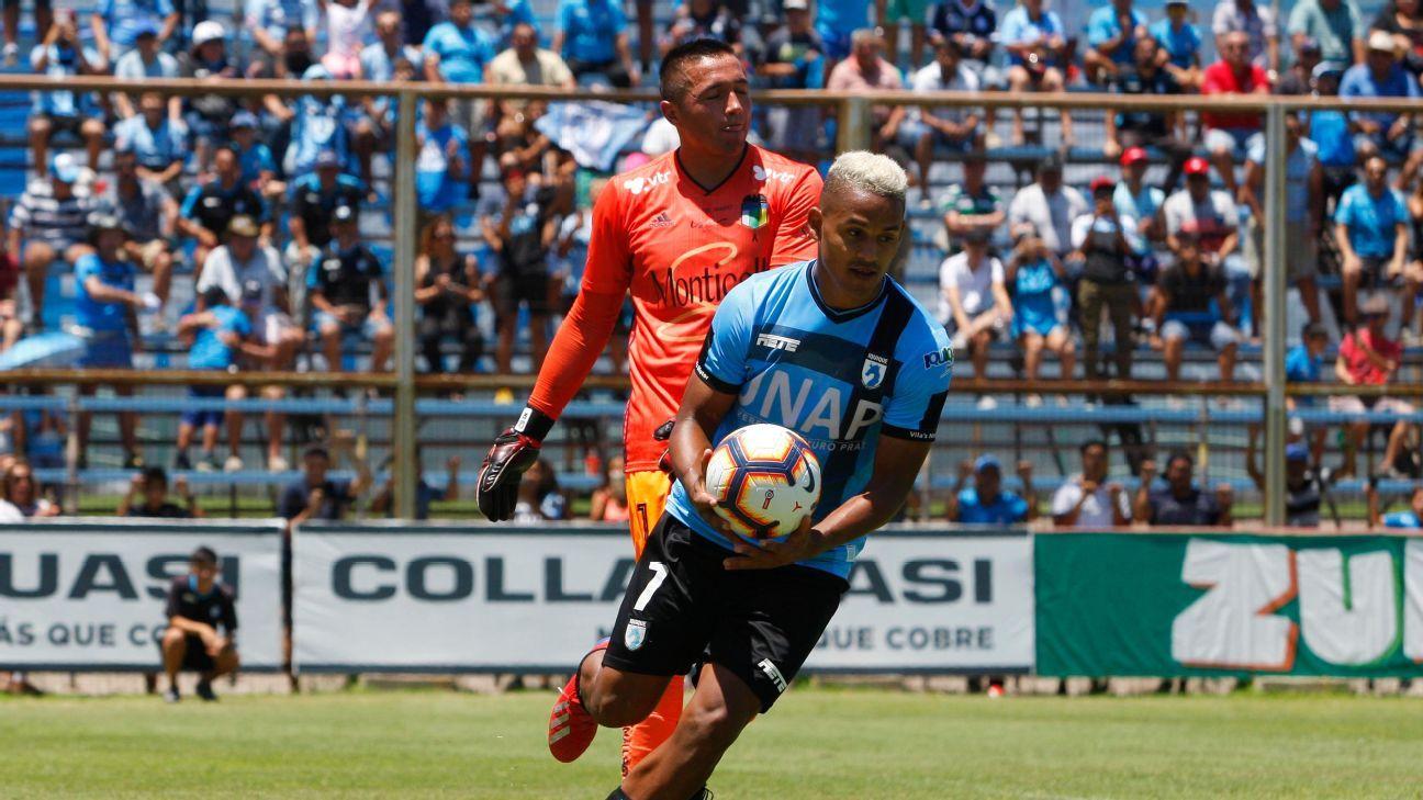 Edwuin Pernía fue descartado ante Colo Colo por esguince
