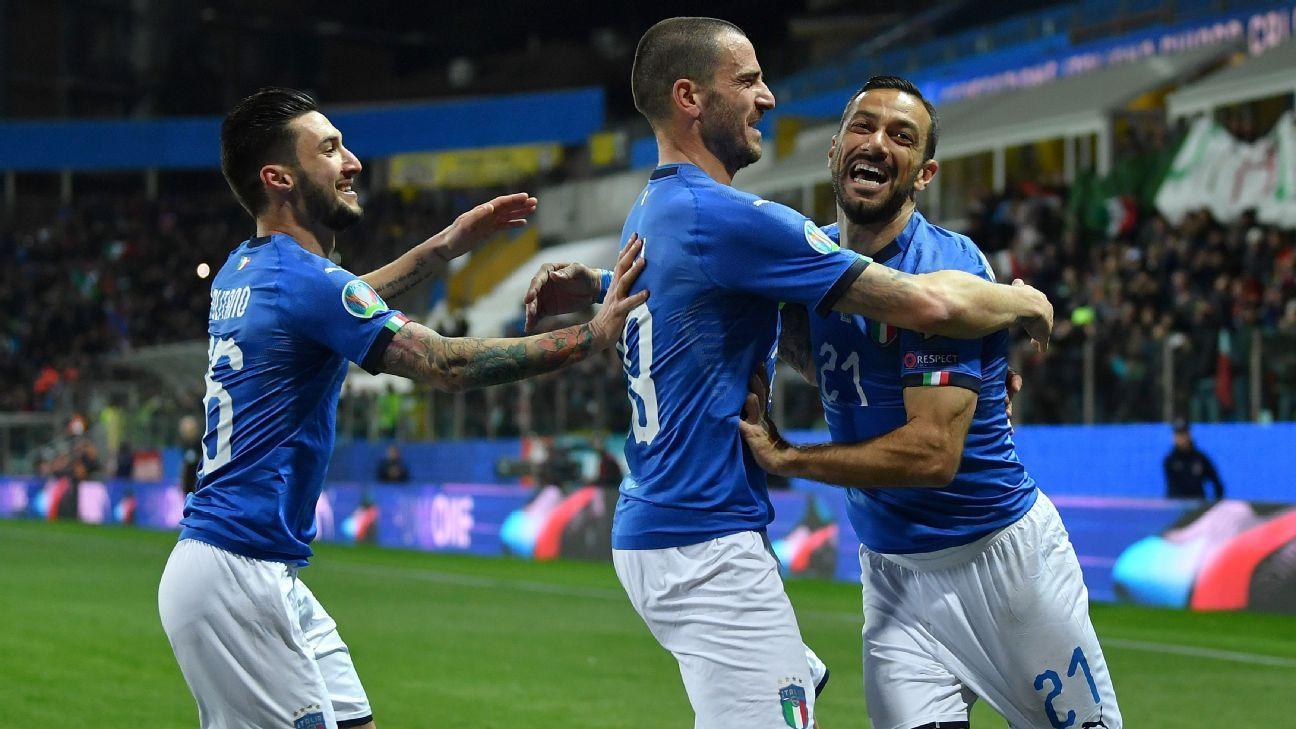 Italia goleó a Liechtenstein y lidera el Grupo J