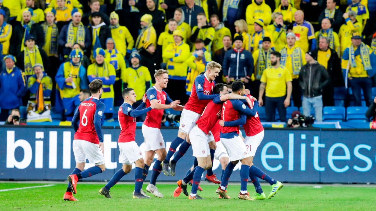 Norway's Kamara levels with game's last touch in Sweden draw