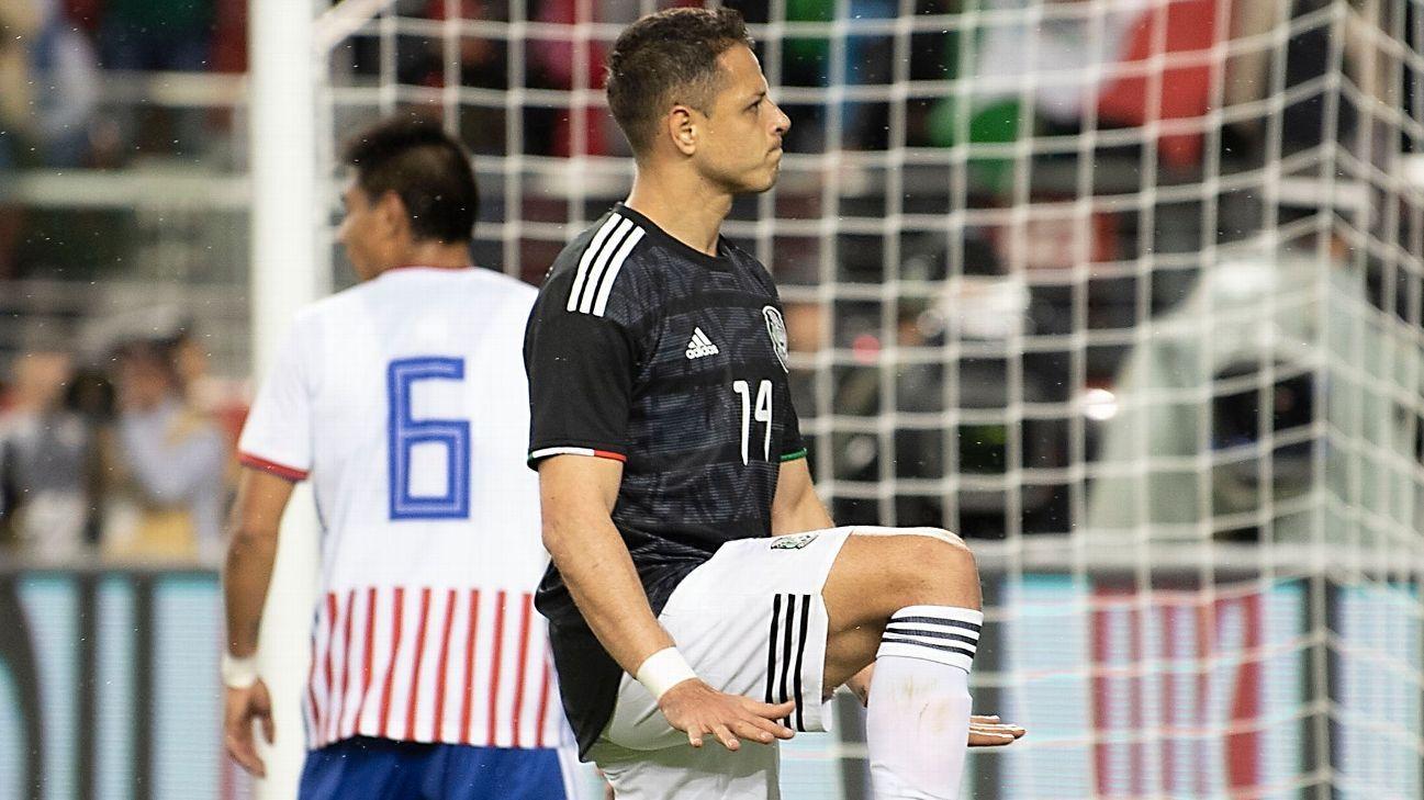 Chicharito empató a Borja como goleador en amistosos con el Tri