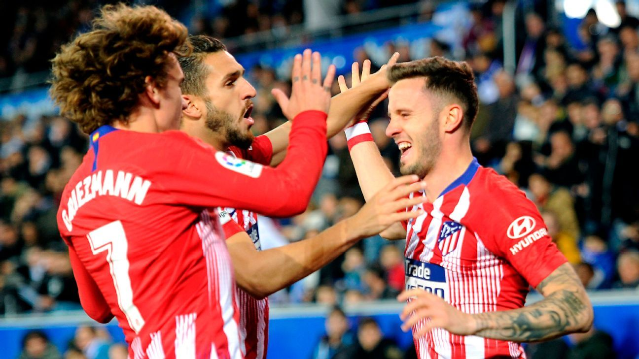 Atletico Madrid crush Alaves to retain faint La Liga title hopes