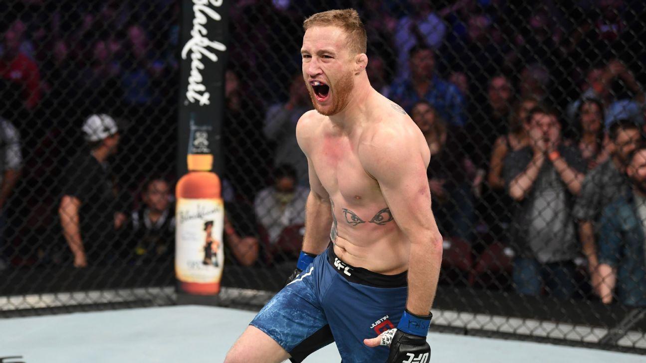 Gaethje: UFC debería eliminar a McGregor de los rankings si no pelea