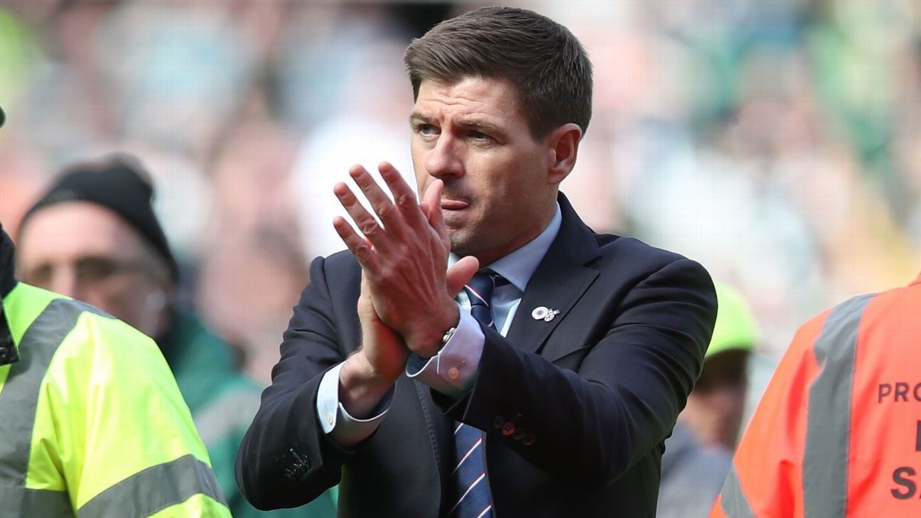 Rangers' Gerrard given one-match touchline ban for misconduct