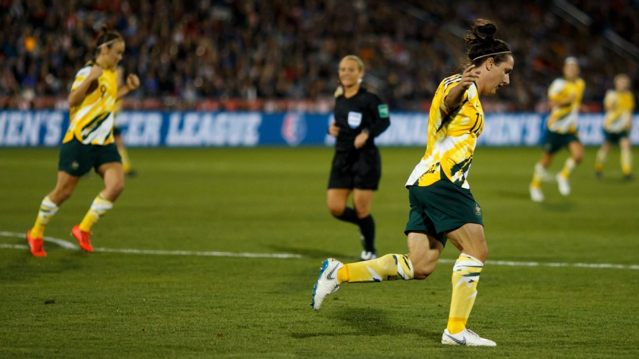 Matildas lose to United States in eight-goal thriller