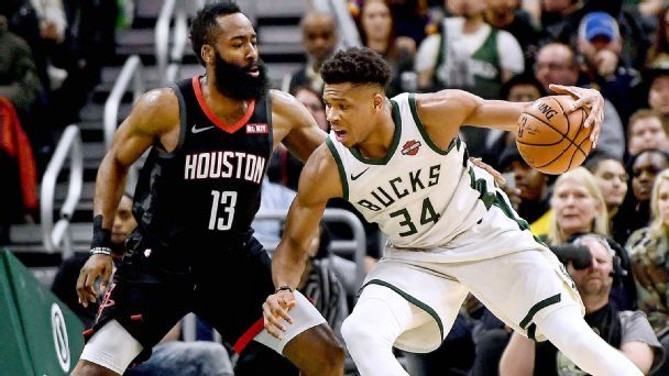 Giannis, Harden lead All-NBA; LeBron on 3rd team