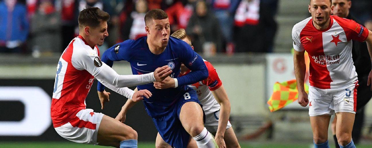Chelsea le ganó a Slavia Praga avanzó a semis de Europa League