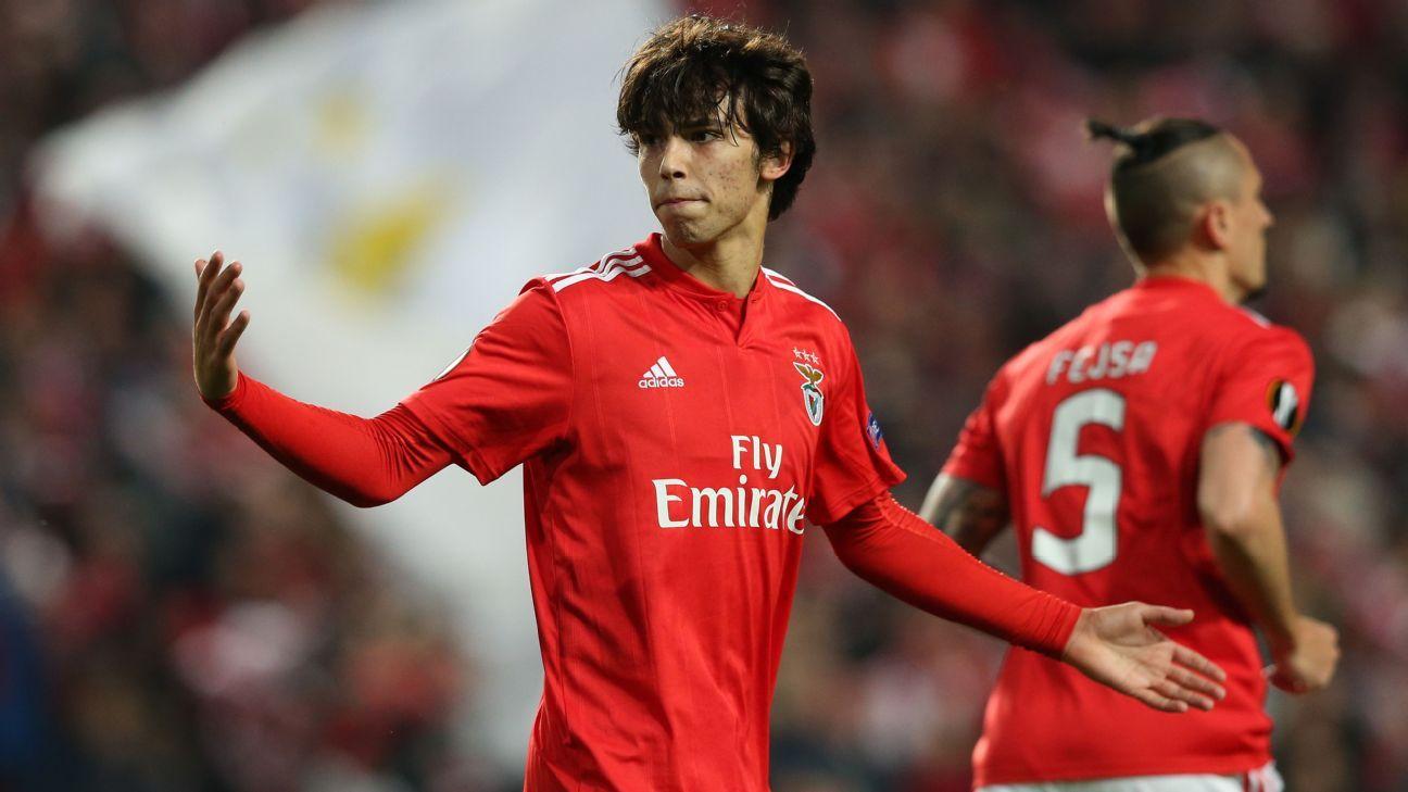 Benfica's Joao Felix nets treble in Europa League first-leg win