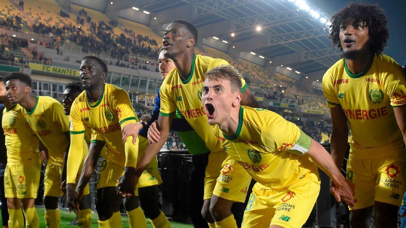 Lyon's Champions League spot under threat after Nantes defeat