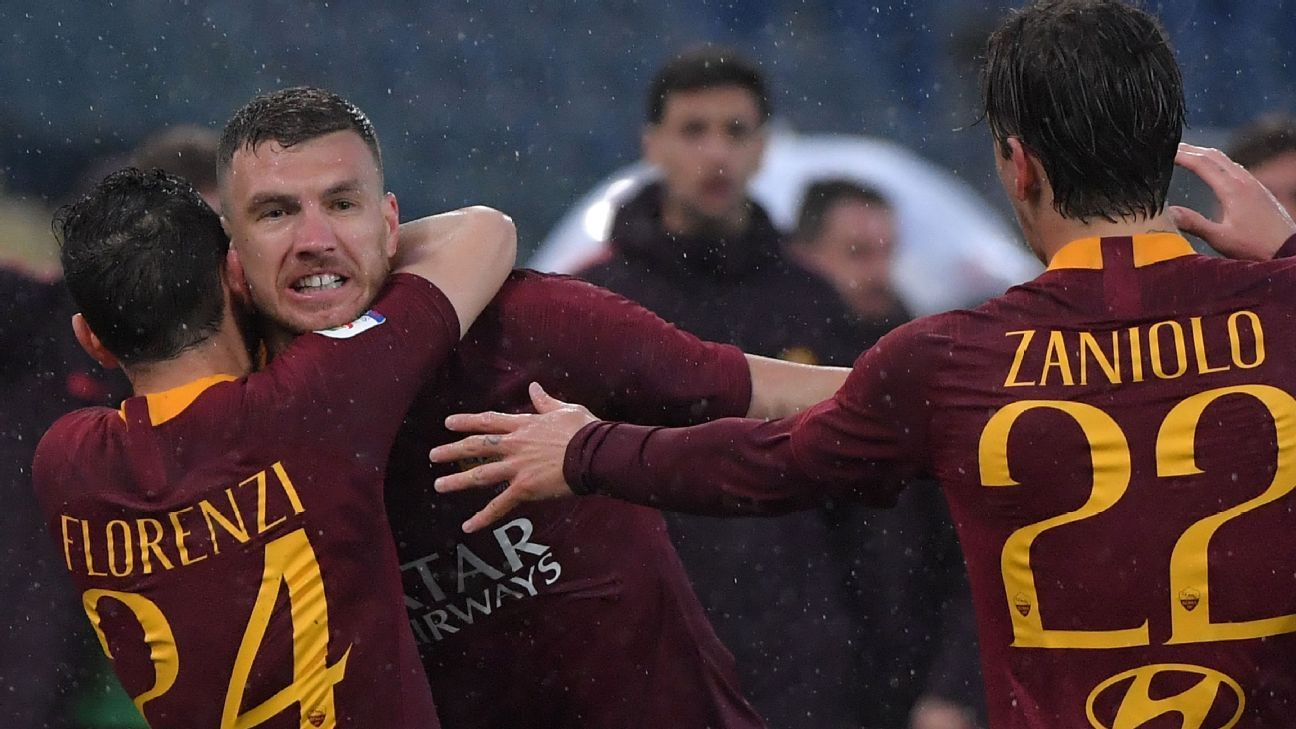 Dzeko strikes to send Roma fourth with win over Udinese