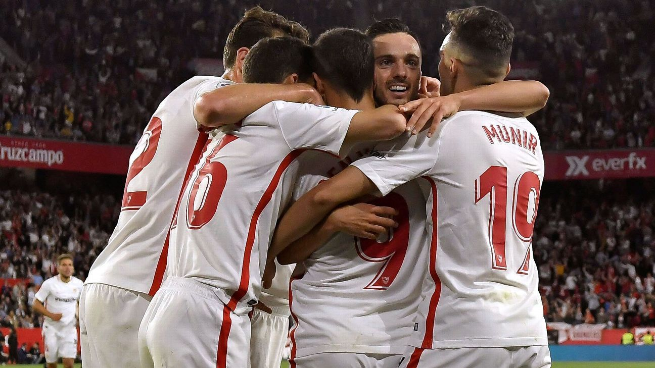 Sevilla edge out Betis in dramatic derby to go fourth in La Liga