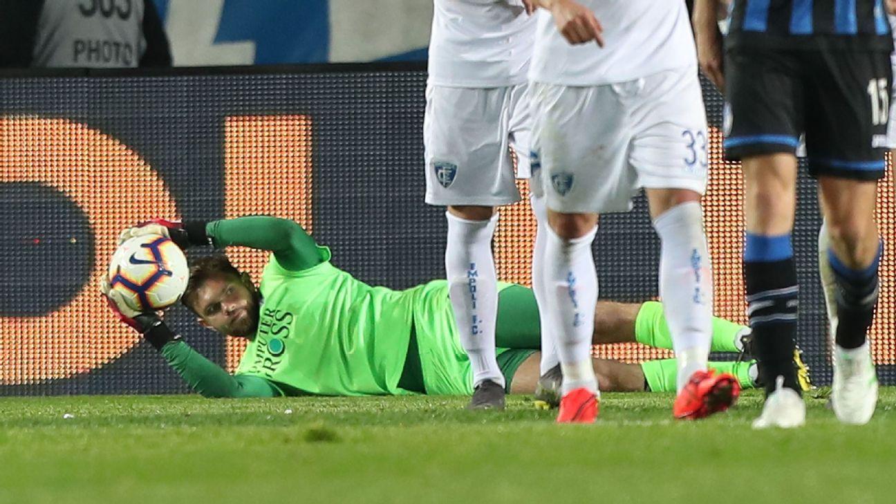 Atalanta fail to score on Empoli's Dragowski despite 32 shots on goal