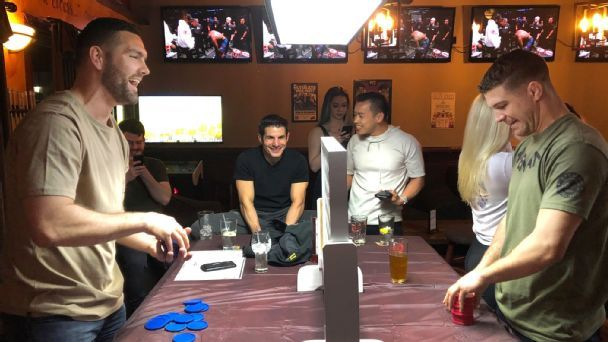 A night out with Al Iaquinta, Chris Weidman and Aljamain Sterling for UFC 236
