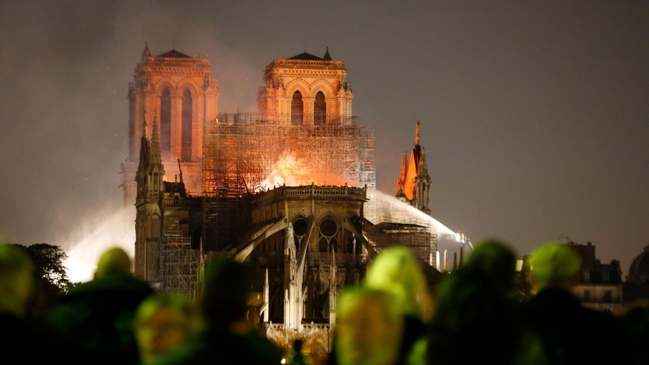 Mbappe, Pogba lead tributes to Notre Dame after major fire at Paris cathedral