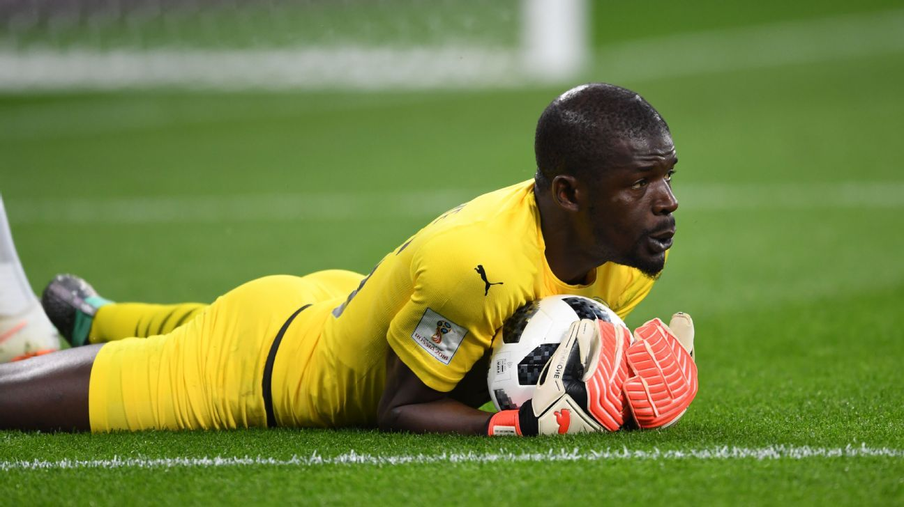 Senegal goalkeeper to miss African Nations Cup with double leg break