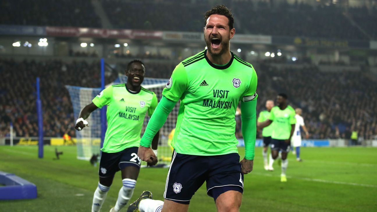 Cardiff win at Brighton to give hope of avoiding Premier League relegation