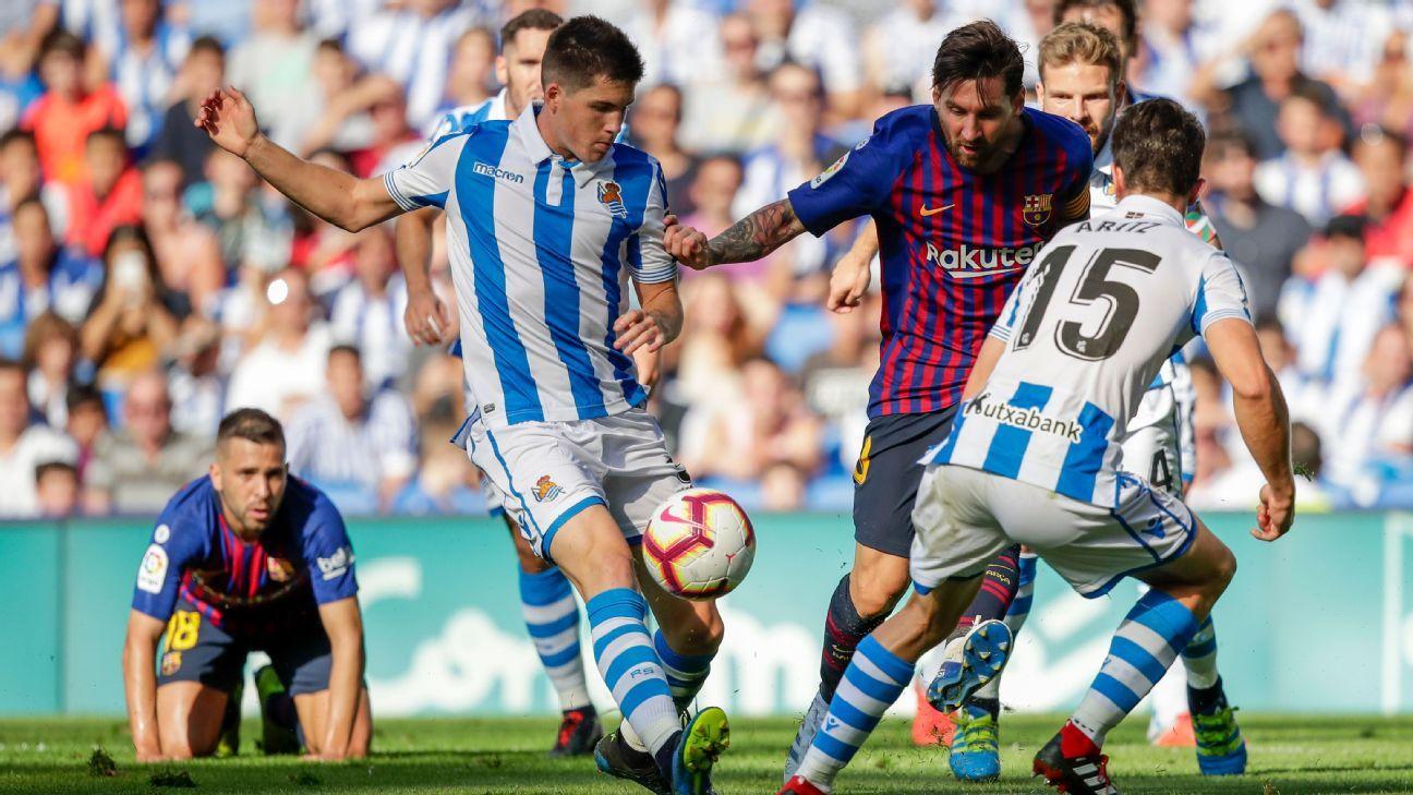 Barcelona recibe a la Real Sociedad, por otro paso al título de Liga
