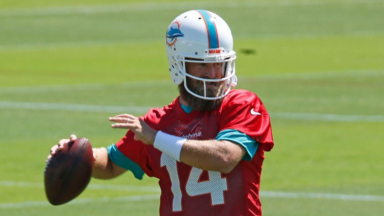 NFL: Novo QB dos Dolphins se apresenta fora de forma e joga a culpa em 'bolos de aniversário'