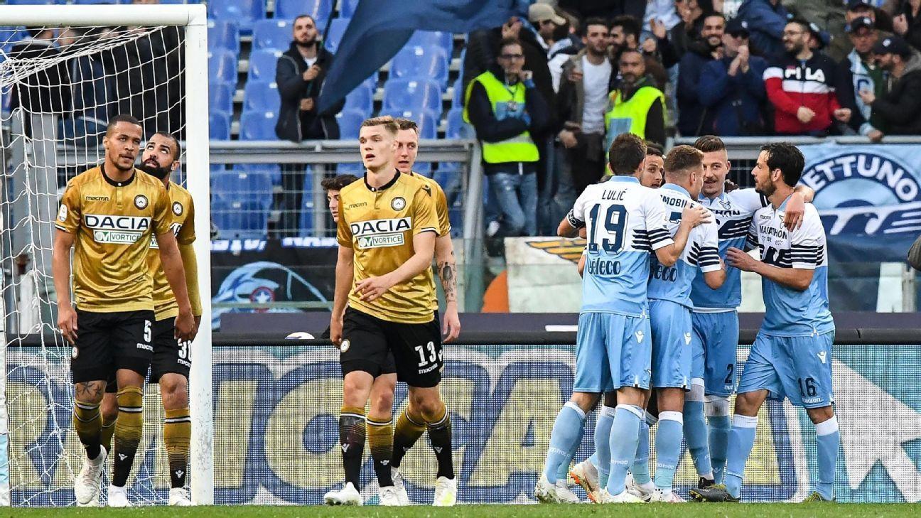 Lazio derrotó a Udinese y sueña con la Champions