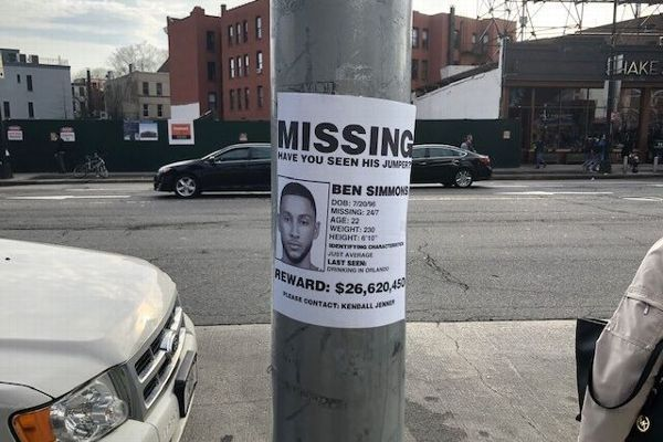 'Missing' poster in Brooklyn targets Simmons