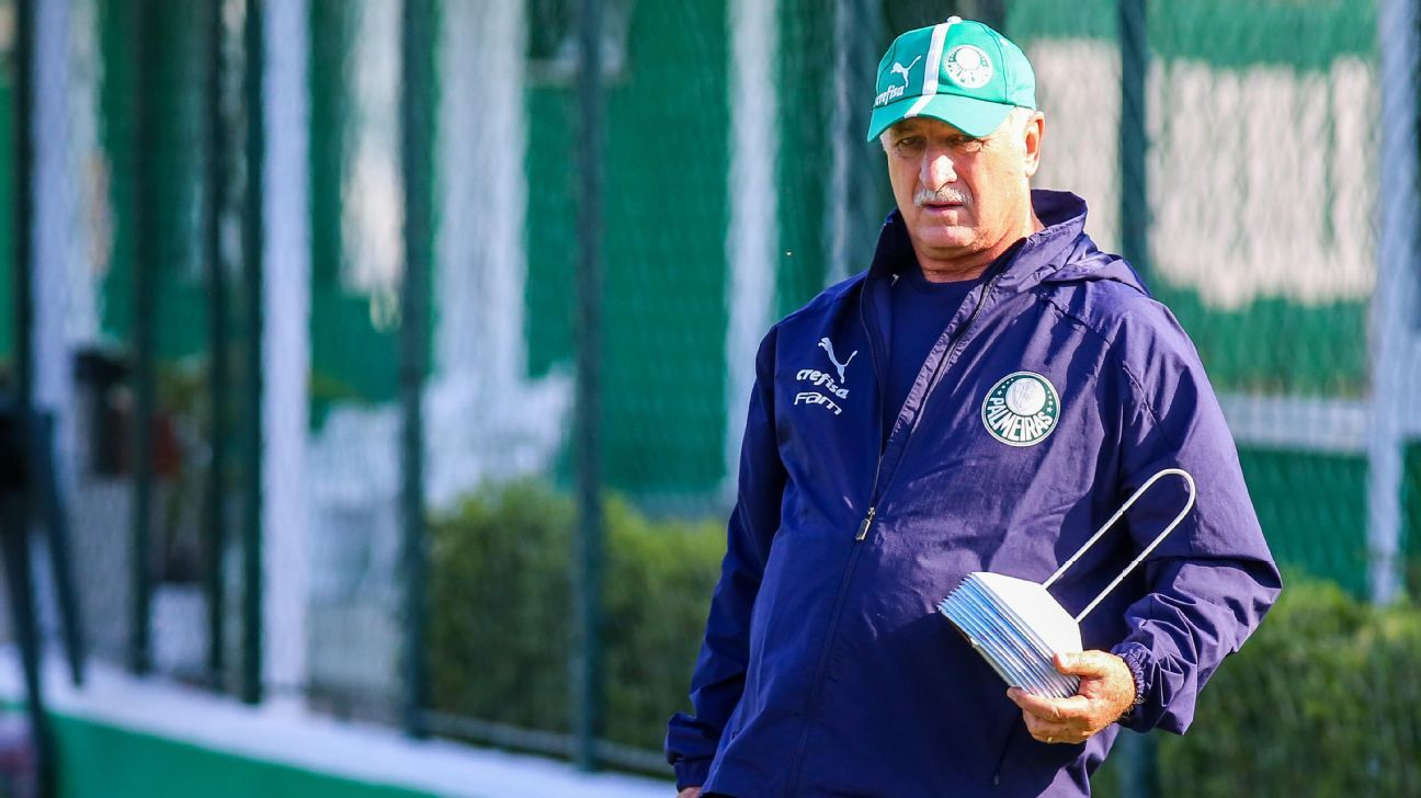 Felipão volta, mas Palmeiras tem desfalque em treino