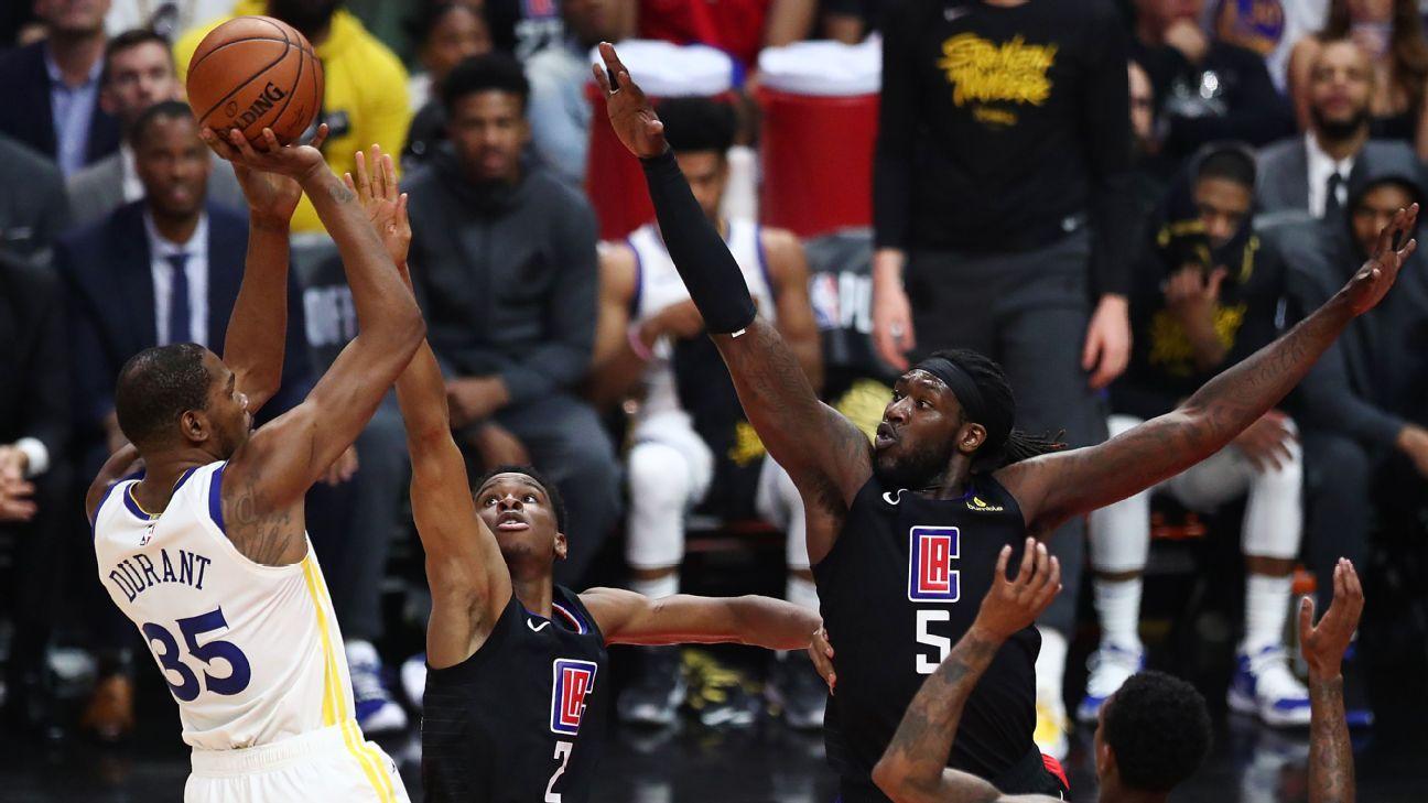 KD lidera triunfo de Warriors con 38 puntos