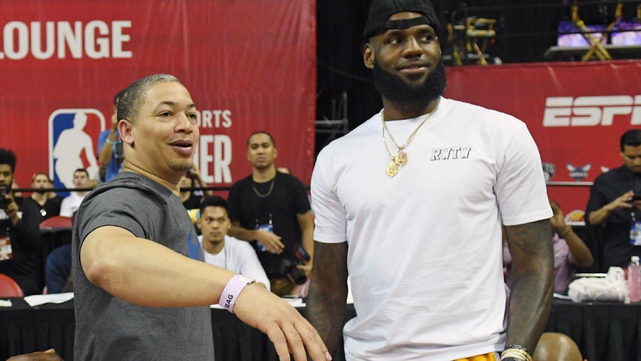 NBA: Los Angeles Lakers se reunirá com técnico de LeBron James nos tempos de Cleveland Cavaliers