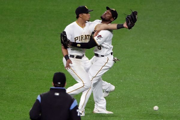 Collision sends Pirates' Marte, Gonzalez to IL