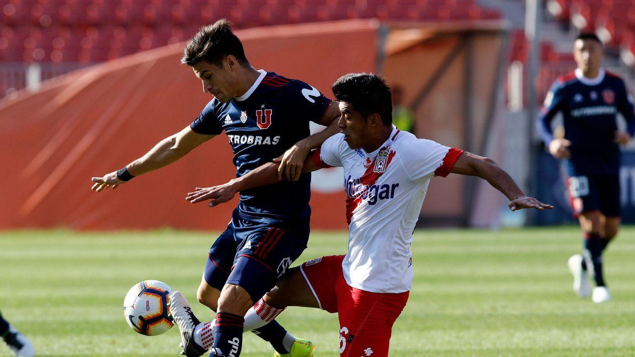 La U de Chile empató 3-3 con Curico Unido
