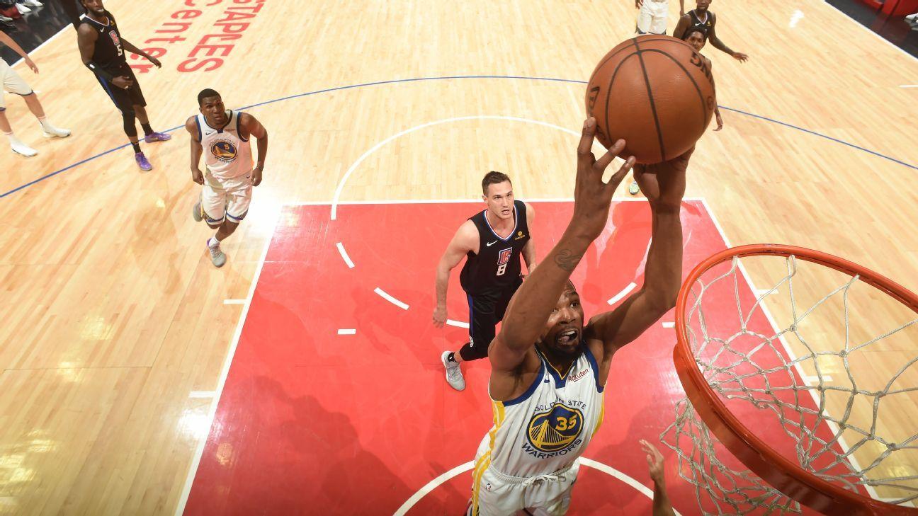 Thompson e Durant brilham, Warriors batem Clippers e ficam perto de avançar nos playoffs da NBA