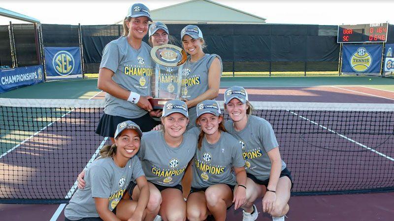 South Carolina wins first SEC women's tennis title