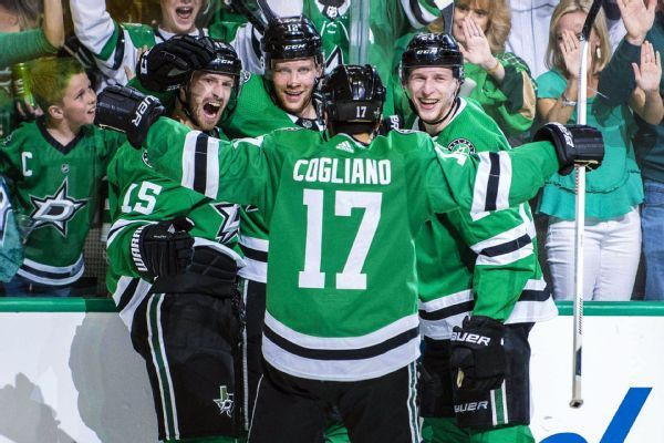 Stars celebrate, but now must deal with Blues