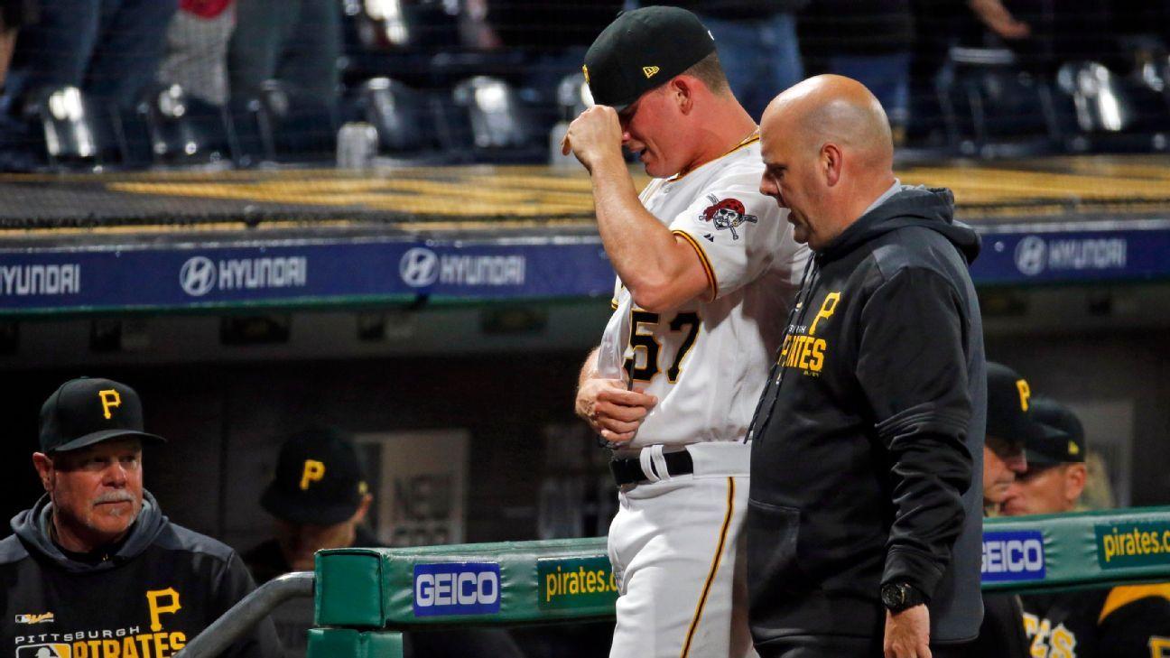 Nick Burdi, de los Pirates, solo tiene distensión en el bíceps