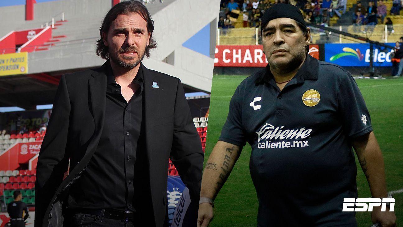 Técnico de Mineros no se intimida por la presencia de Maradona