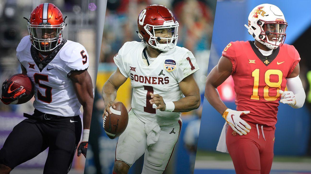 De la Big XII a la NFL: jugadores a seguir para el Draft 2019