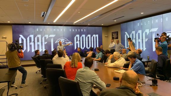 Ravens move from paper cards to $600K digital draft room