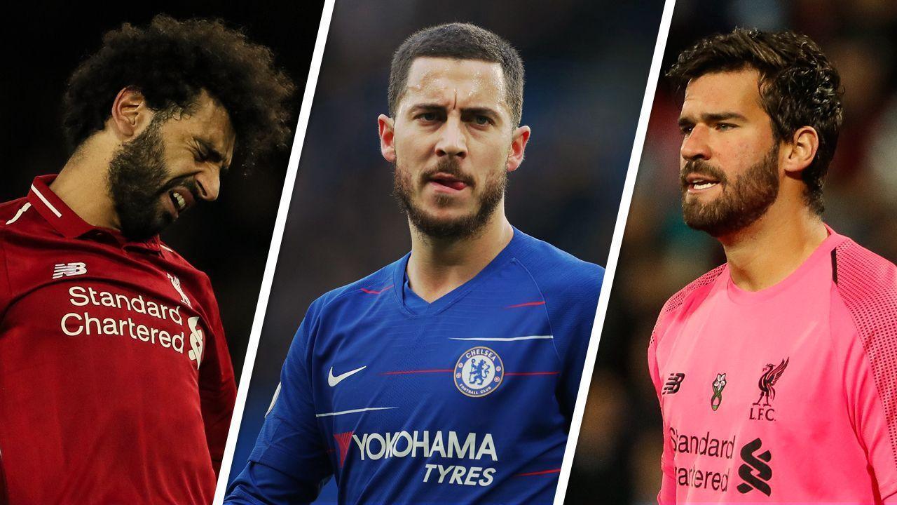 Salah, Hazard, Alisson... os números dos astros 'esnobados' da seleção da Premier League