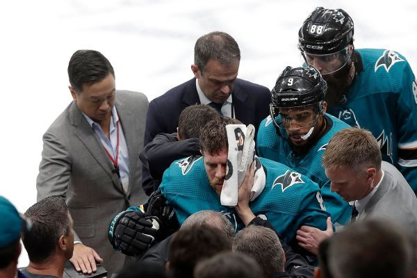 Sharks' Pavelski unlikely to play in Game 1