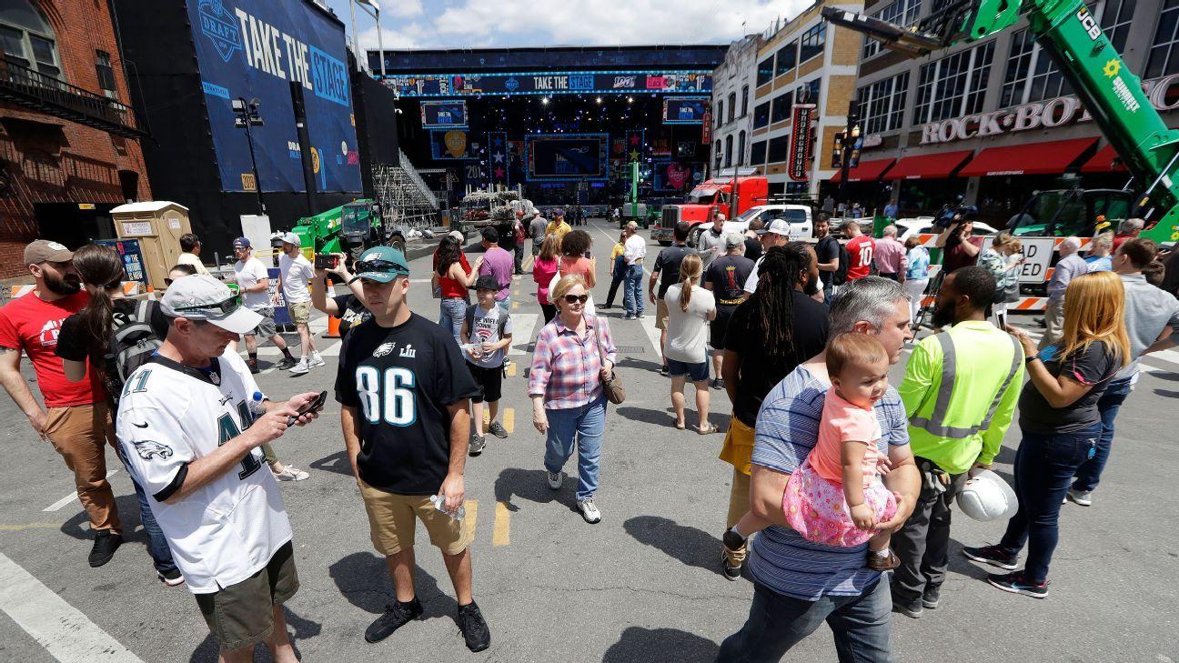 Nashville abre sus puertas para la fiesta del draft de la NFL