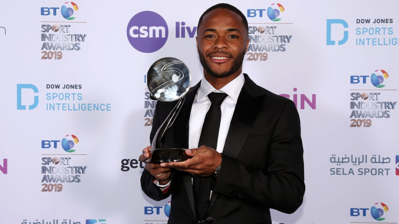 England's Sterling honoured for speaking out against racism, other social issues