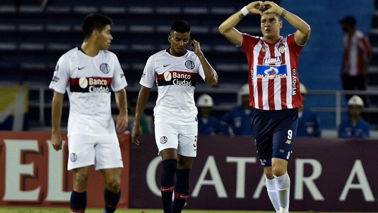 Junior vence o San Lorenzo e ajuda o Palmeiras na Libertadores
