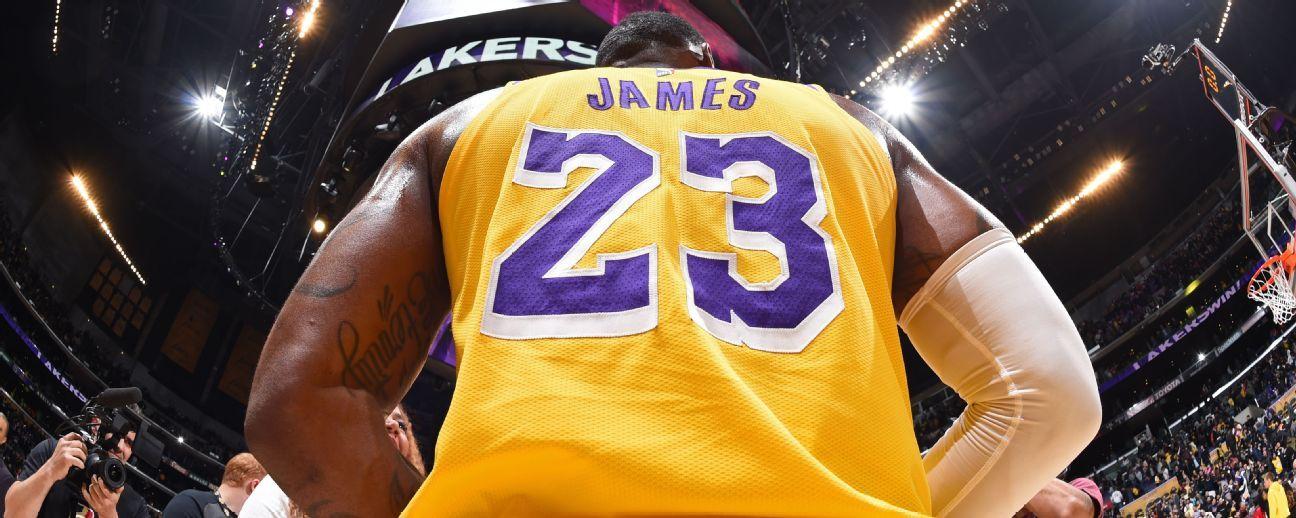 Nos Lakers, LeBron acaba com hegemonia de Curry e volta a ter camisa mais vendida da NBA