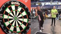 Rafael van der Vaart wins first-ever professional darts match at Denmark Open