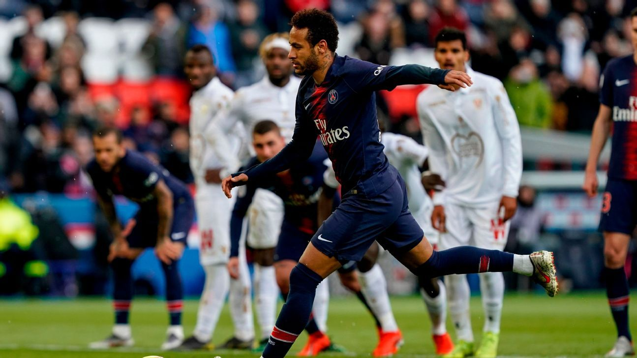 Neymar hits half-century mark as PSG are held by Nice