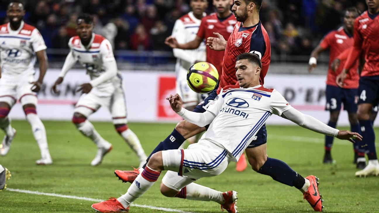 Lyon hold Lille to 2-2 draw in top-three thriller