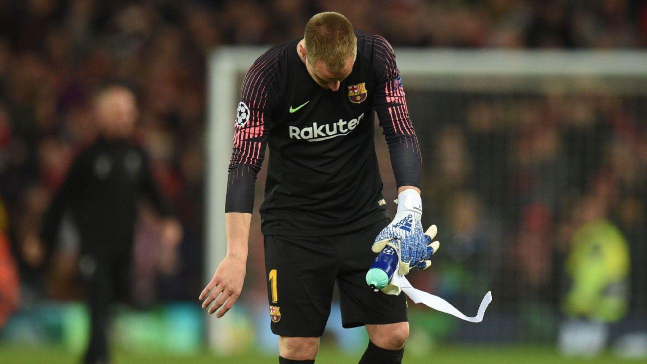 Ter Stegen, baja para la final de Copa por lesión en la rodilla