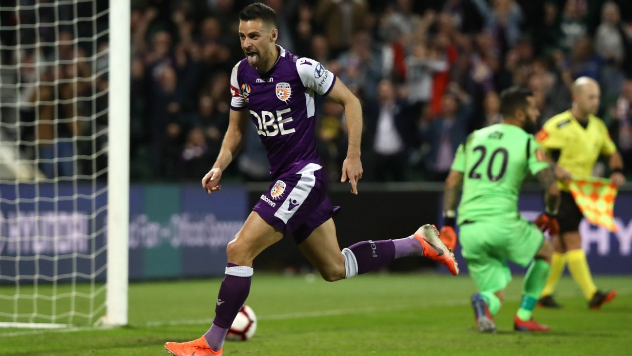 Perth Glory edge out Adelaide United on penalties to reach A-League Grand Final