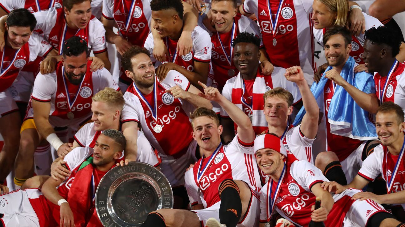 Ajax clinch first Eredivisie title since 2014 to complete Dutch double