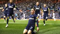 Derby County rally to beat Leeds, set Wembley date with Aston Villa