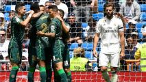 Bale unused sub as Madrid lose at home to Betis