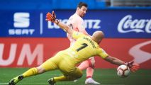 Messi nets twice as Barca end season with draw